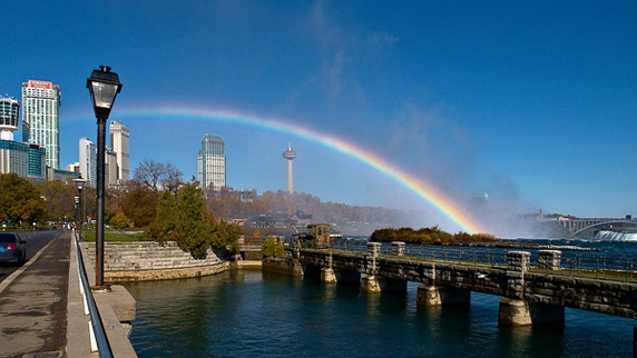 Rainbow over Table Rock in Niagara Falls